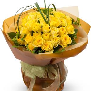 노란장미꽃다발